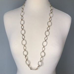 "Ann Taylor 36"" Gold and Silver Link Necklace"
